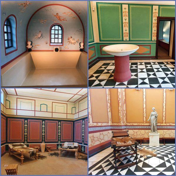 Im Herrenhaus der römische Villa Borg