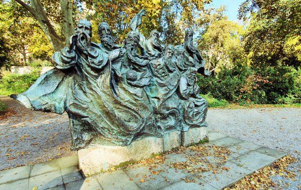 Die 'Fährmann hol über' Statue in Speyer