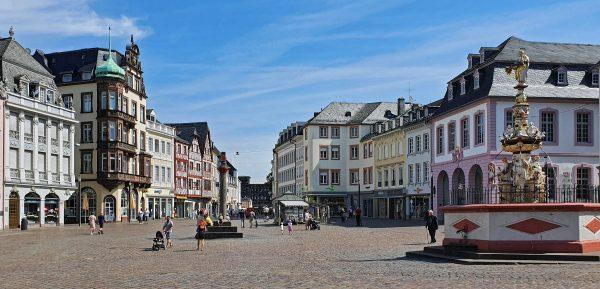 Der Hauptmarkt in Trier
