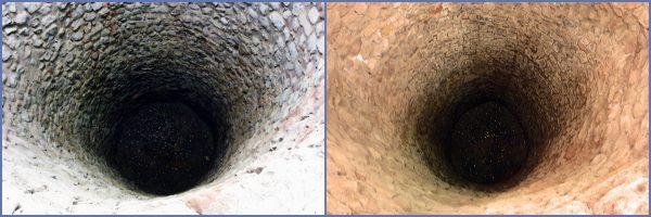 Zwei Brunnen in den Thermen am Viehmarkt in Trier
