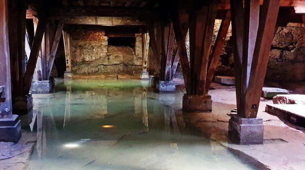 Im Untergrund vom Amphitheater in Trier