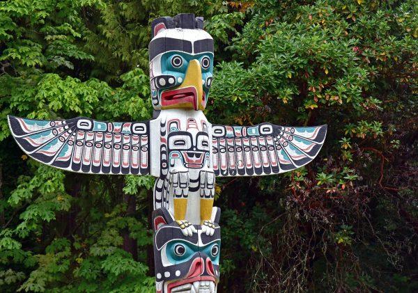 Totempfahl im Stanley Park / Vancouver