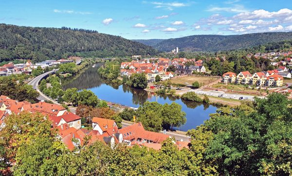 Blick auf den Main von der Burg in Wertheim aus
