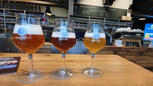 'Da braut sich was', Zinnis Bier-Test im Brauhof Wien