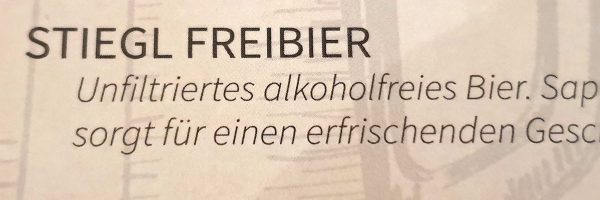 Freibier im Restaurant 'Campus Bräu' in Wien