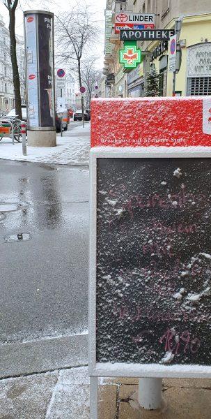 Winter Schmuddel Wetter in Wien