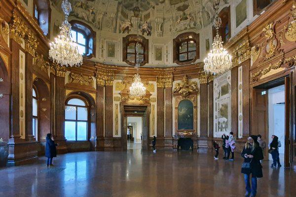 Im Schloss Belvedere in Wien
