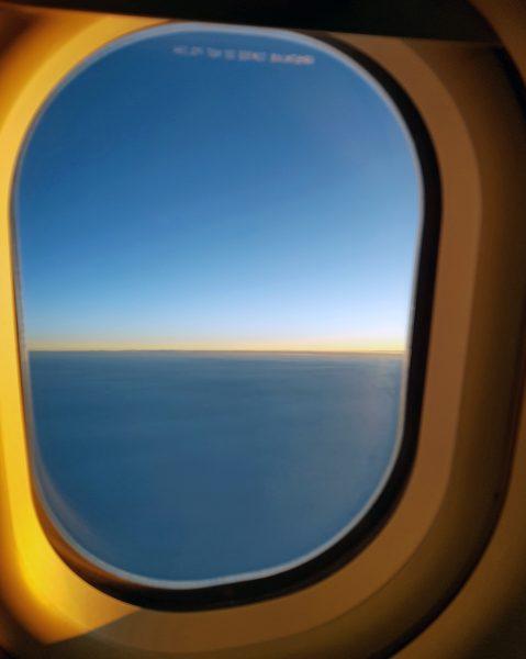 Auf dem Flug von Zürich nach Kuba