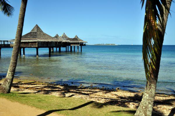 Der Strand von Anse Vata in Noumea