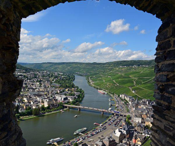 Blick von der Burg auf Bernkastel-Kues
