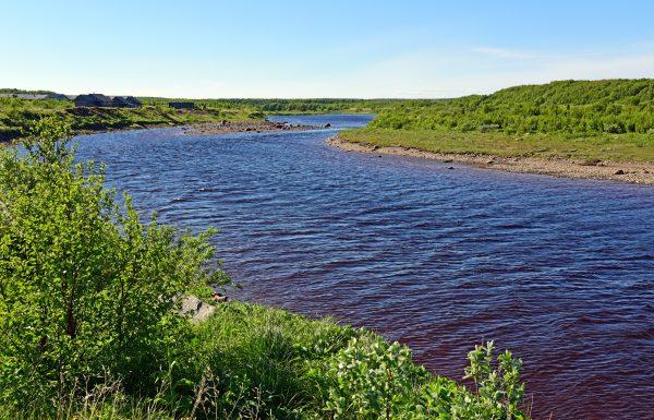 Ein Fluss nahe Chapoma