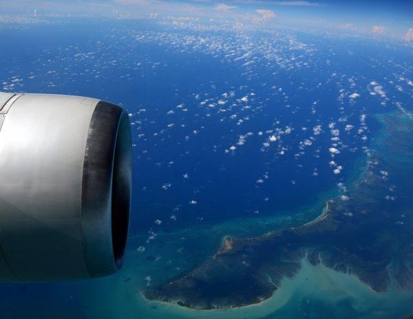 Auf dem Flug nach Miami
