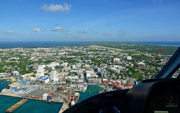 Die Hauptstadt Georgetown von Grand Cayman