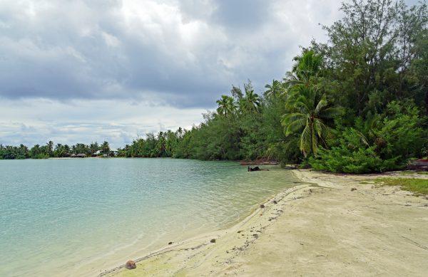 Ein Strand in Aitutaki / Cook Inseln