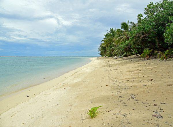Ein Strand in Rarotonga