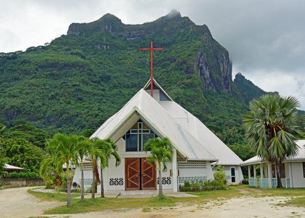 Eine Kirche in Bora Bora