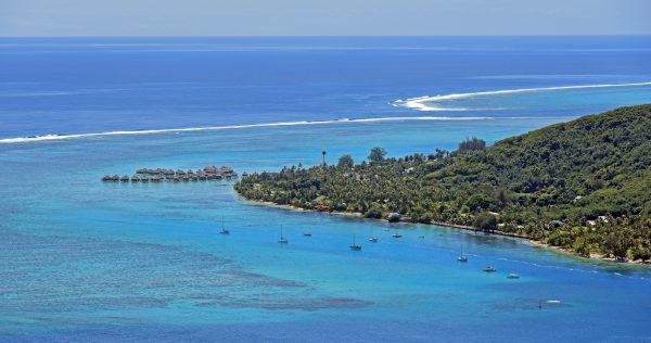 Blick auf das Atoll von Mo'orea