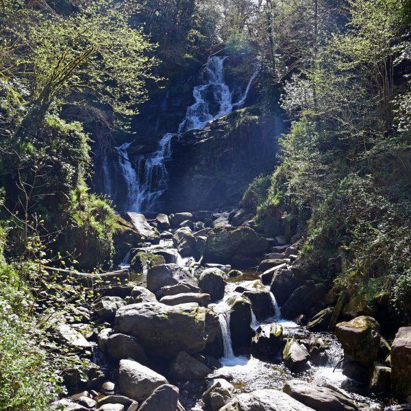 Ein Wasserfall im Kilkenny Nationalpark in Irland