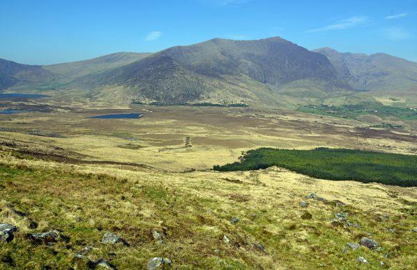 Blick vom Conor Pass auf der Dingle Halbinsel