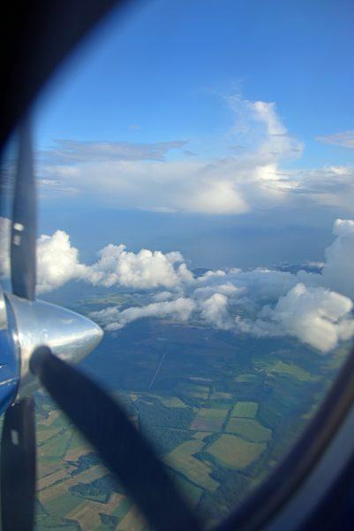 Flug von Tallinn nach Saaremaa / Estland