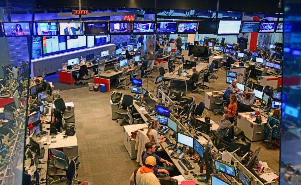 Einblick in ein CNN Studio