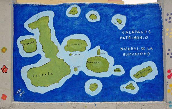 Eine Karte der Galapagos Inseln