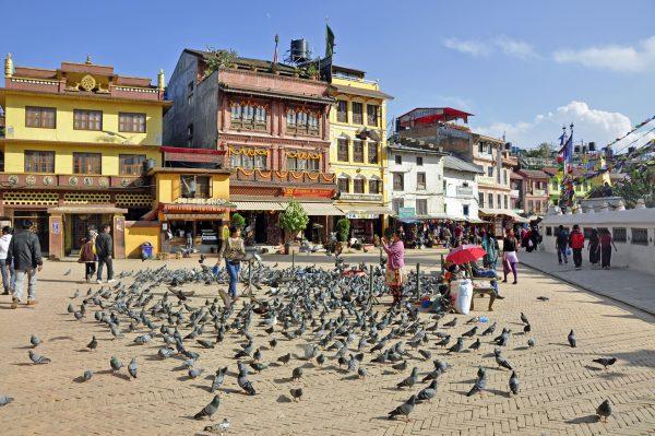Am Platz von Swayambhunath / Kathmandu