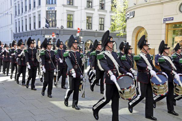 Eine Parade in Oslo
