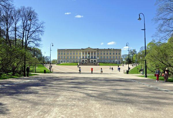 Das Slott (königliches Schloss) in Oslo
