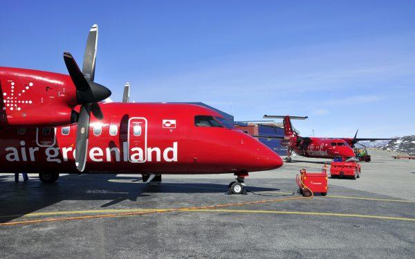 Air Greenland Ankunft in Ilulissat