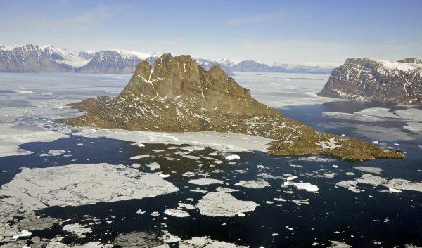 Mein erster Blick auf die Insel Uummannaq