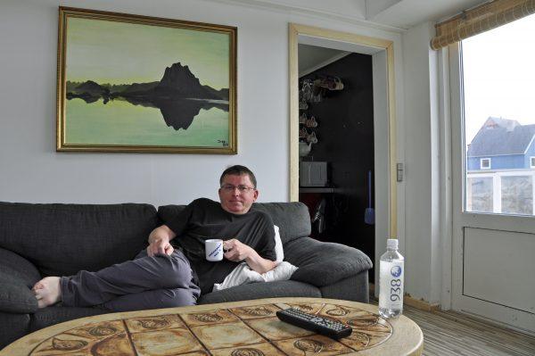 Zinni in seinem gebuchten Haus in Uummannaq