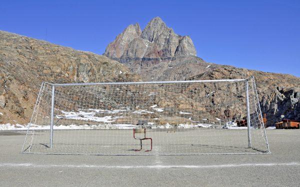 Der Fußballplatz von Uummannaq