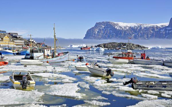 Der Hafen von Uummannaq