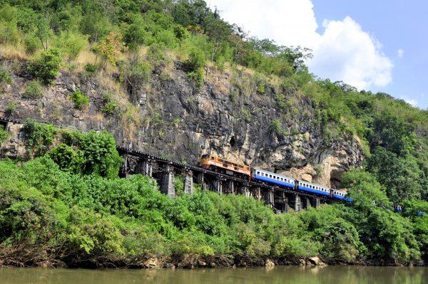Ein Teil der Thailand-Burma-Eisenbahn, Umgangssprachlich 'Death Railway'