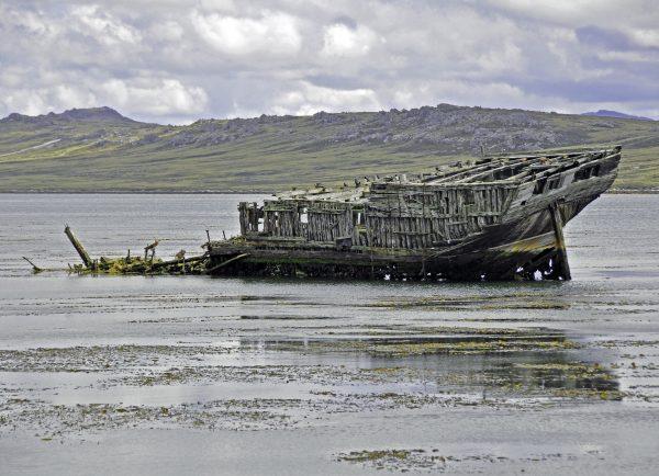 Das Jhelum Schiffswrack auf Falkland