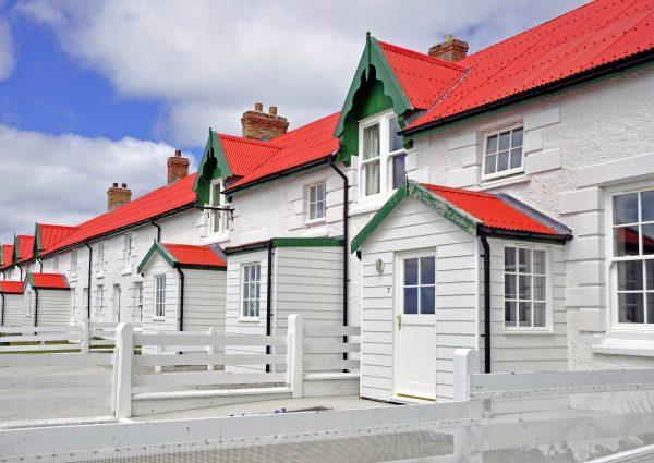 Das ehemalige 'Upland Goose Hotel' in Stanley auf Falkland