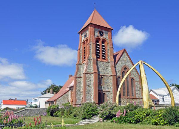 Die Christ Church Kathedrale in Port Stanley auf Falkland