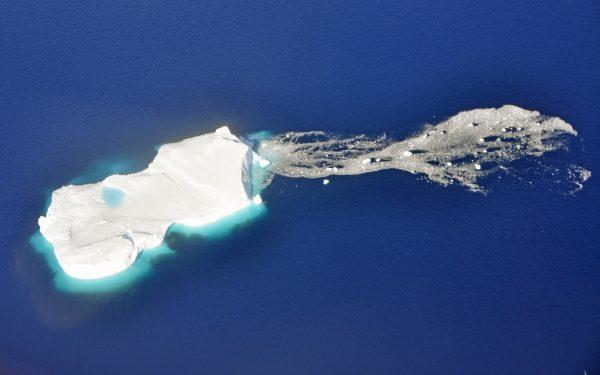 Eisscholle, gesehen von Qaarsut nach Ilulissat