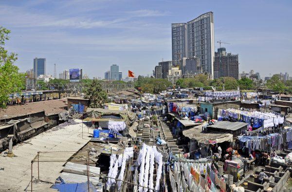 Eine Wäscherei in Mumbai
