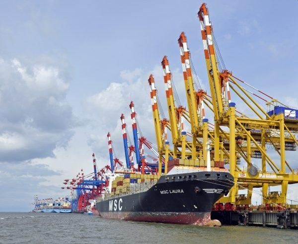 Der Hafen von Bremerhaven