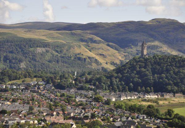 Stirling und das Wallace Monument