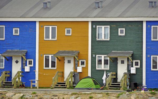 Bunte Häuser in Sisimiut