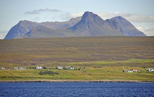 Blick auf die schottische Küste