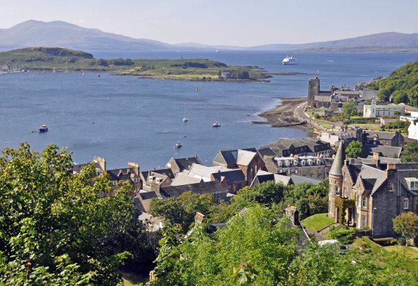 Blick auf Oban / Schottland