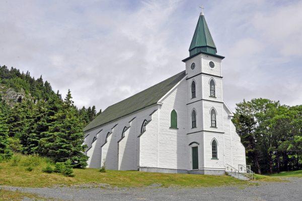Eine Kirche in der Nähe von Witless Bay