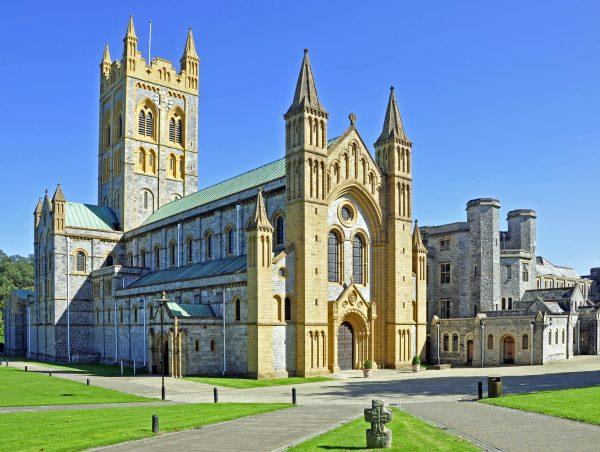 Die Buckfast Abbey in Buckfastleigh (Suchspiel: Finde den Küster!)