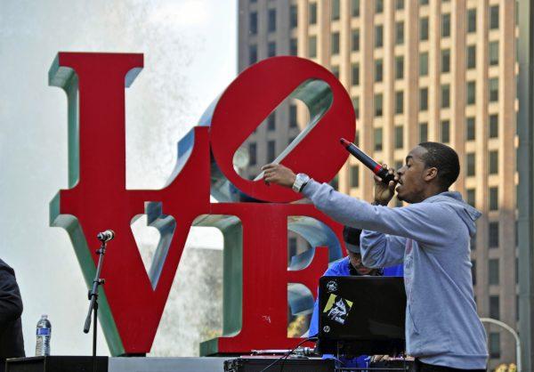 Der LOVE Park in Philadelphia