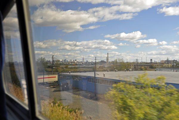 Im Zug von Philadelphia nach New York