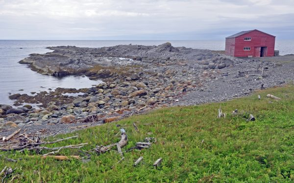 Broom Point, ein kleines restauriertes Fischerdorf